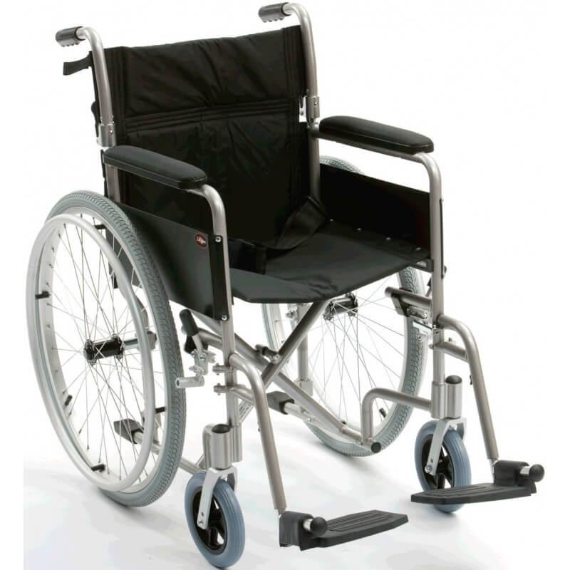 Silla de ruedas autopropulsable de aluminio