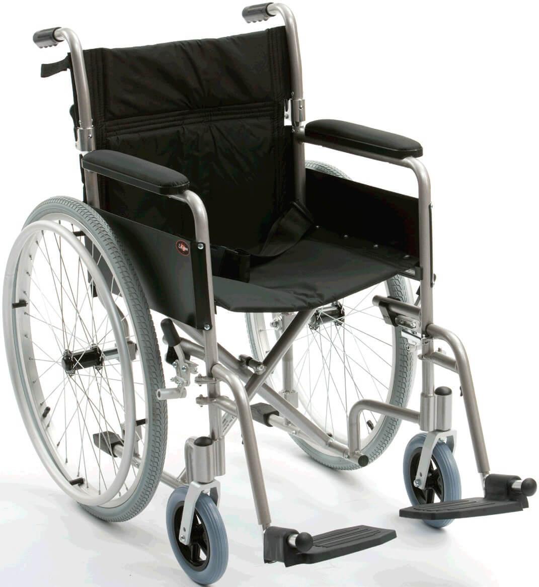 Silla de ruedas autopropulsable de aluminio for Sillas de aluminio