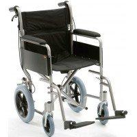 Silla de ruedas de traslado en aluminio
