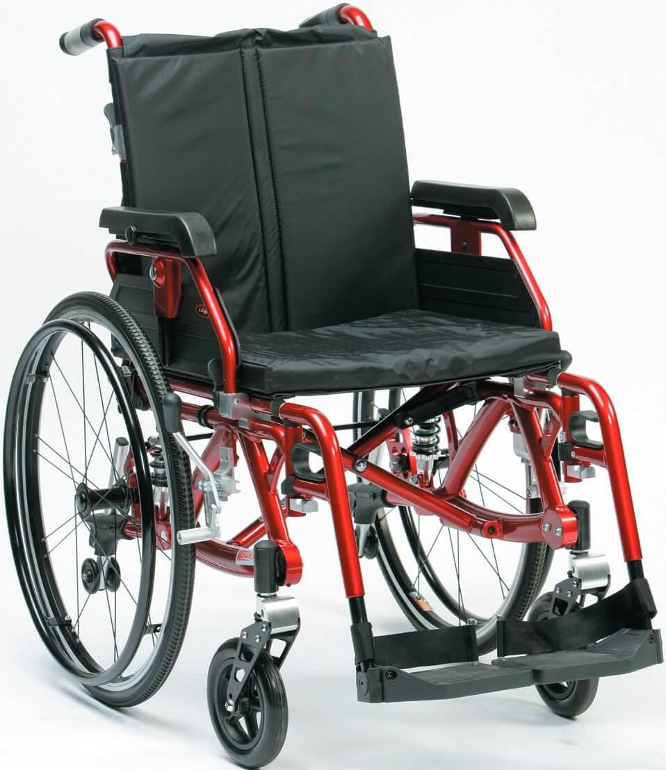 Silla de ruedas autopropulsable de aluminio k for Sillas de aluminio