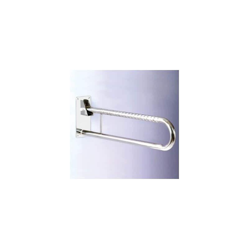 Doble barra abatible en acero inoxidable de 73cm - Ayudas dinámicas