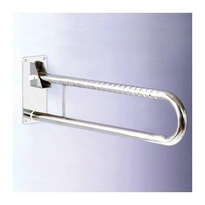 Doble barra abatible en acero inoxidable de 73cm