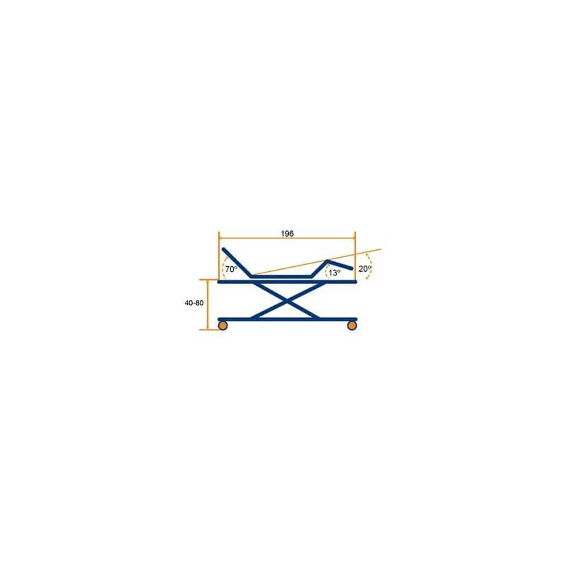Cama articulada con carro elevador Marina Plus
