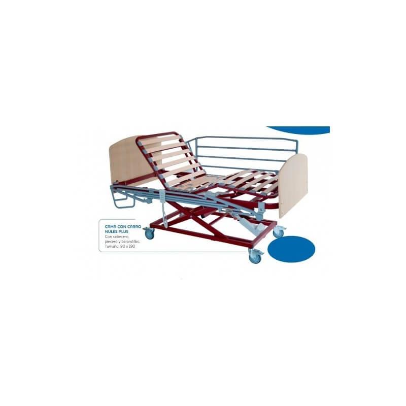 Cama articulada con carro elevador NULES