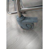 Silla inodoro inoxidable con ruedas - Ortoespaña