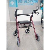 Andador rollator de 4 ruedas frenado por manetas - Ortoespaña