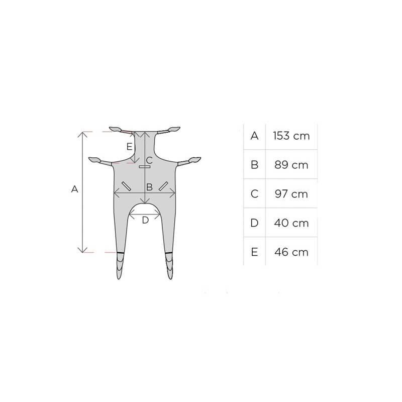 Grua hidraulica hasta 135 kg con arnes incluido