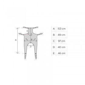 Grua electrica hasta 180 kg con arnes incluido y motor Linak. - Cosmomedica