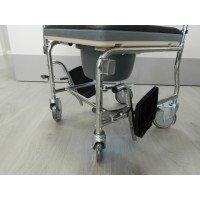 Silla de ruedas con inodoro tapizada - Ortoespaña