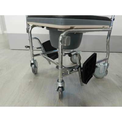 Silla de ruedas con inodoro tapizada - Silla de ruedas con inodoro ...