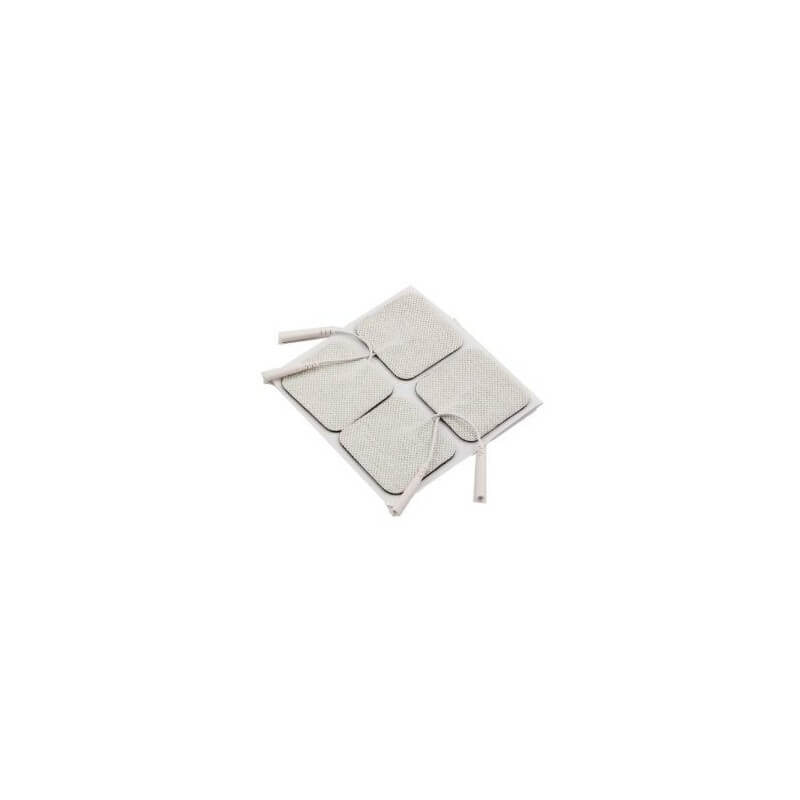 Electrodo con gel desechable autoadhesivo hembra 4 piezas 40x40 mm para tens. - Cosmomedica