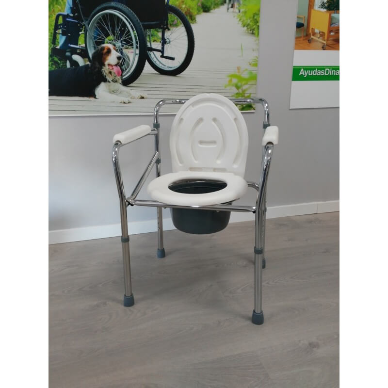 Silla wc plegable regulable en altura