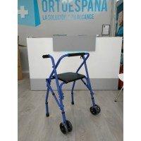 Andador de 2 ruedas plegable con asiento