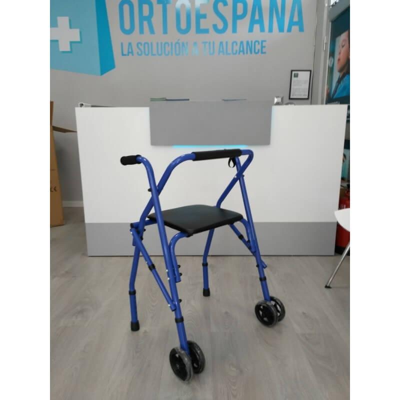 Andador de 2 ruedas plegable