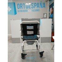 Silla de ruedas con inodoro de aluminio - Ortoespaña