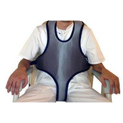 Cinturón torácico-abdominal tipo chaleco para silla de ruedas