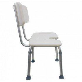 Silla de ducha de aluminio asiento en U - Ortoespaña