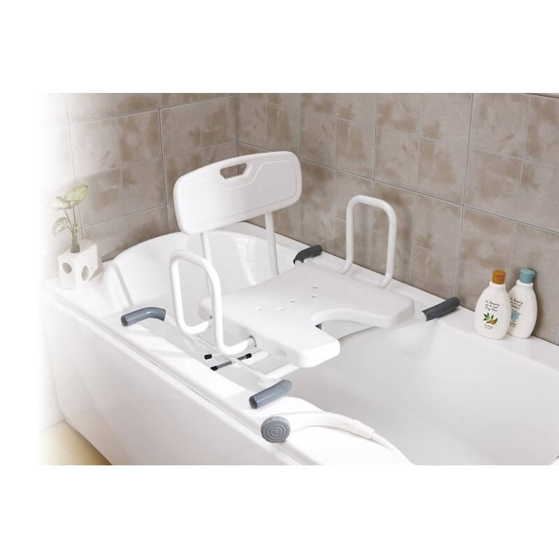 Asiento giratorio de bañera en forma de U