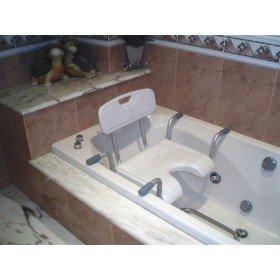 Asiento para bañera en forma de U con respaldo - BASTONES GARCÍA 1880