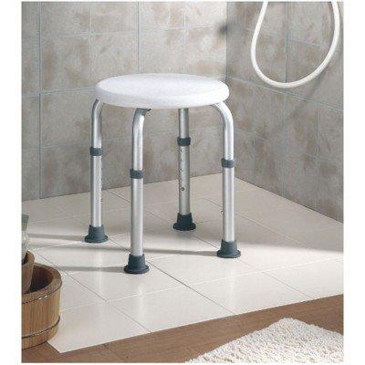 Taburete de ducha redondo de aluminio for Taburete de ducha