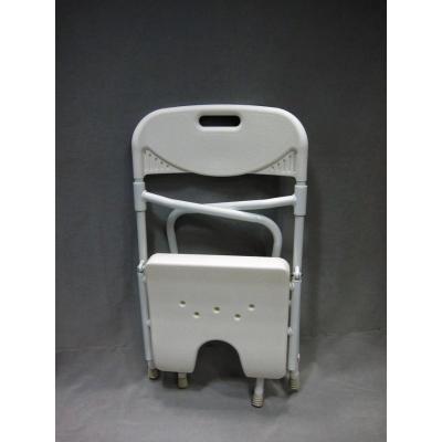 Silla de baño plegable de aluminio