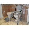 Silla de ducha con ruedas e inodoro