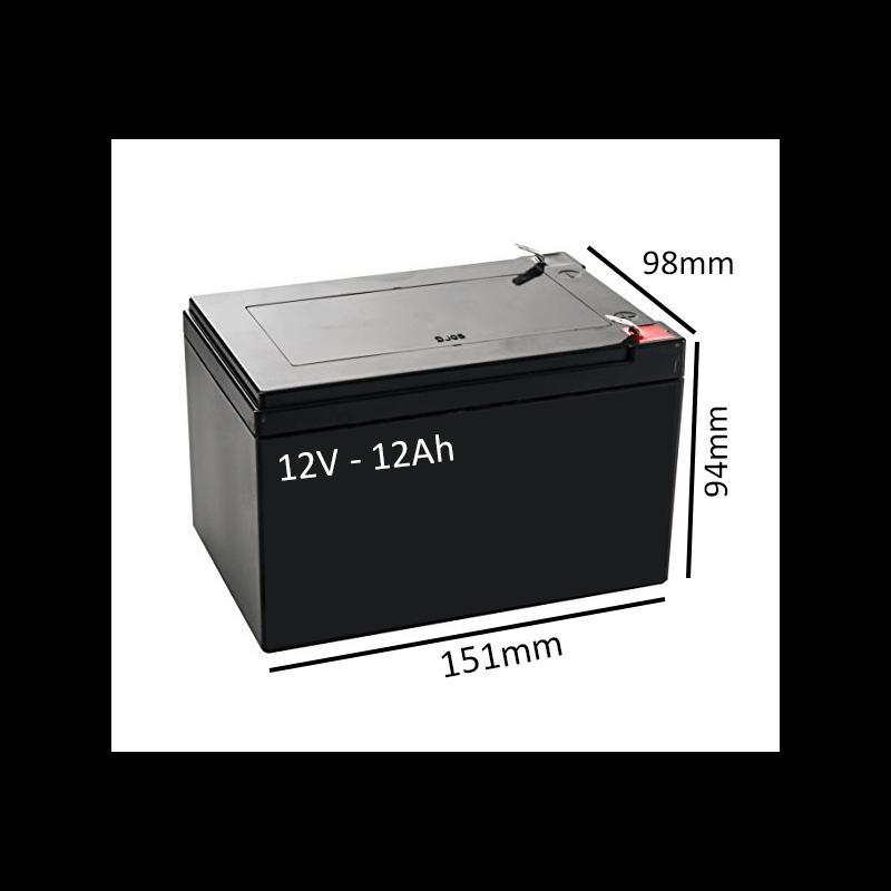 Batería AGM 12V - 12Ah para scooter y silla eléctrica