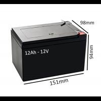 Baterías Scooter Eléctrico PRISM de 12Ah - 12V