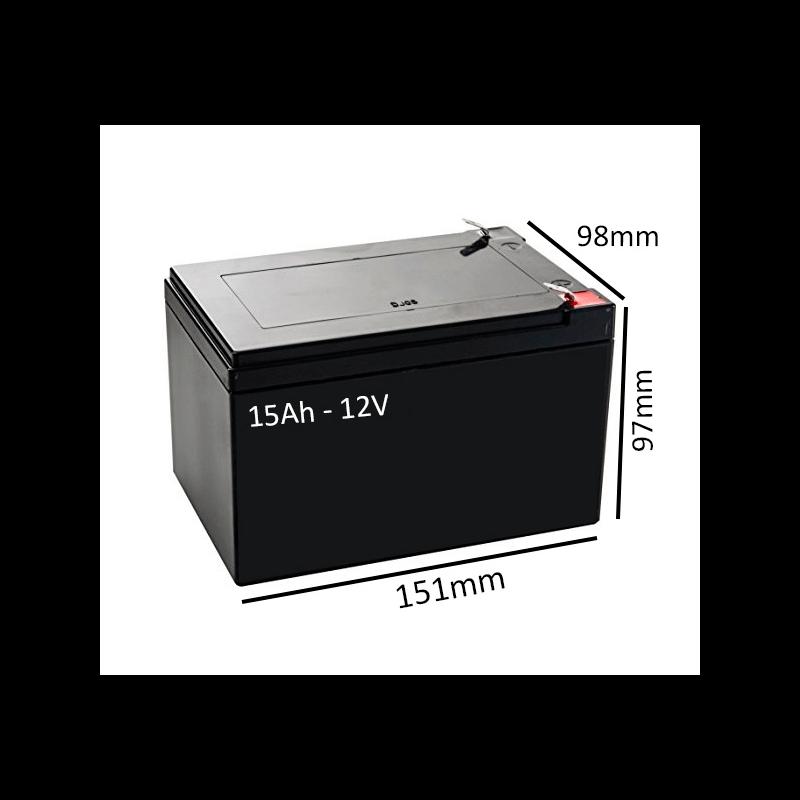 Baterías para silla eléctrica R120 de 15Ah - 12V