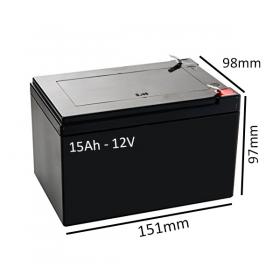 Baterías para silla eléctrica BOX de 15Ah - 12V - Ortoespaña