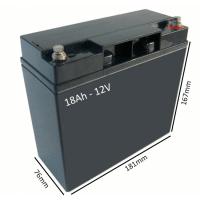 Batería AGM 18Ah - 12V  para scooter y silla eléctrica