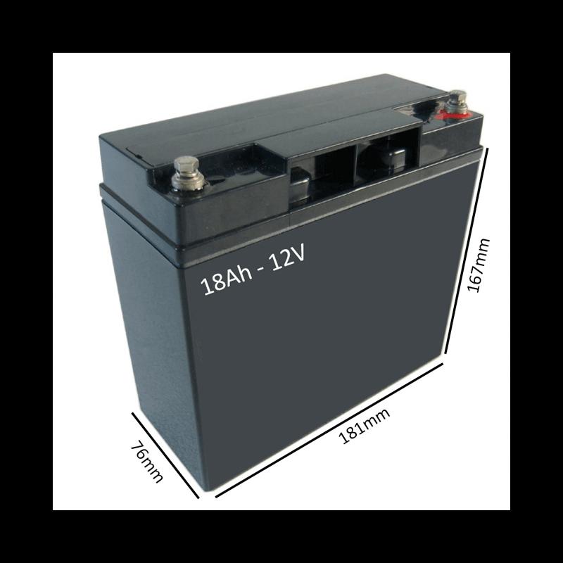 Batería AGM 18Ah - 12V  para scooter y silla eléctrica - Ortoespaña