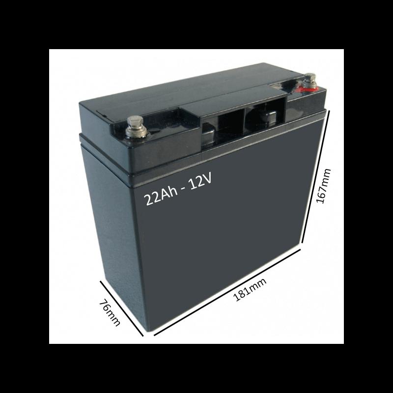 Batería AGM 22Ah - 12V  para scooter y silla eléctrica - Ortoespaña