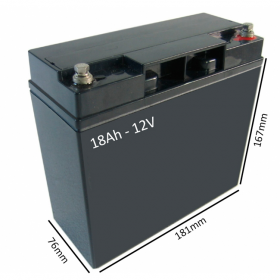 Baterías para silla eléctrica ESPIRIT ACTION 4 de 18Ah - 12V - Ortoespaña