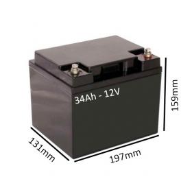Batería AGM 34Ah - 12V  para scooter y silla eléctrica -