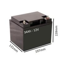 Batería AGM 34Ah - 12V  para scooter y silla eléctrica