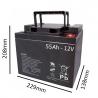 Baterías de GEL para Silla de ruedas eléctrica TRIPLEX de 55Ah - 12V