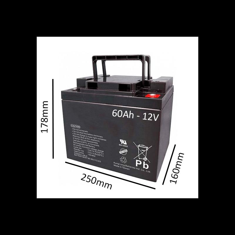 Baterías de GEL para Silla de ruedas eléctrica DRAGON VERTIC de 60Ah - 12V