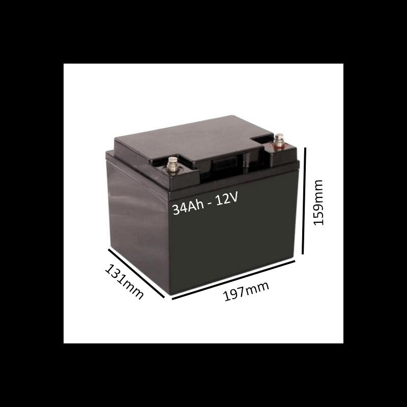 Baterías de GEL para Scooter eléctrico ESTORIL 2 de 34Ah - 12V - Ortoespaña