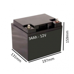 Baterías de GEL para Silla de ruedas eléctrica HULA de 34Ah - 12V - Ortoespaña