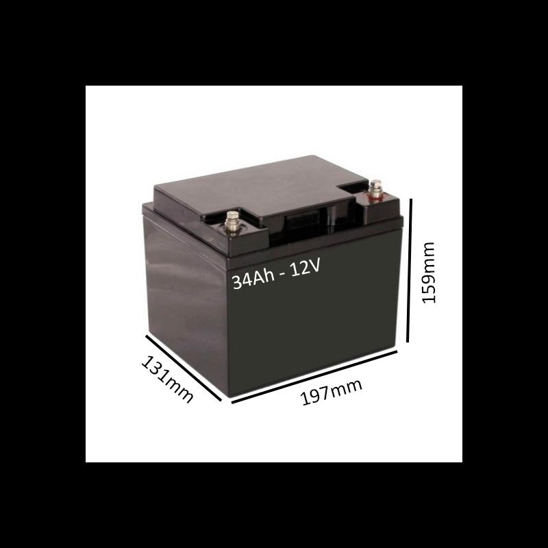 Baterías de GEL para Scooter eléctrico LEO 3 y 4 RUEDAS de 34Ah - 12V