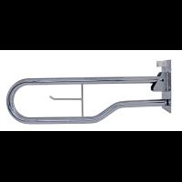 Barra abatible para baño de acero niquel cromo 74cm