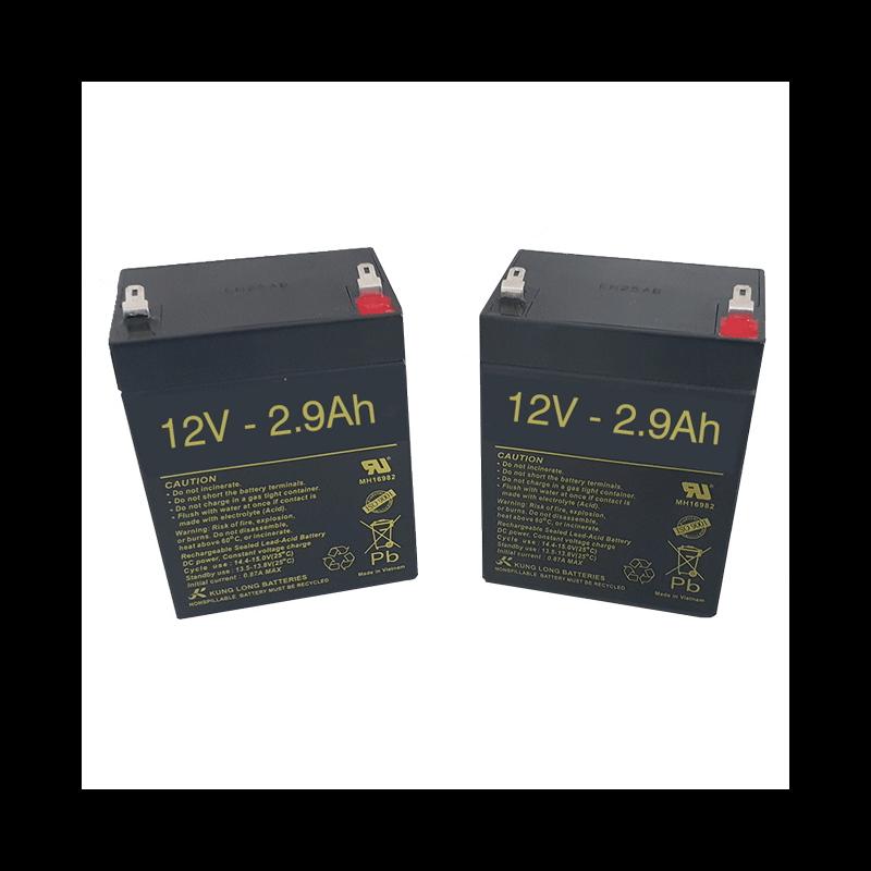 Baterías para Grúa eléctrica Jasmine de 2.9Ah - 12V