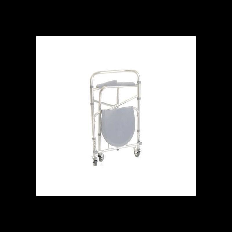 Silla wc ducha 4 en 1 con ruedas