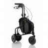 Rollator con cesta de metal y bolsa de nylon