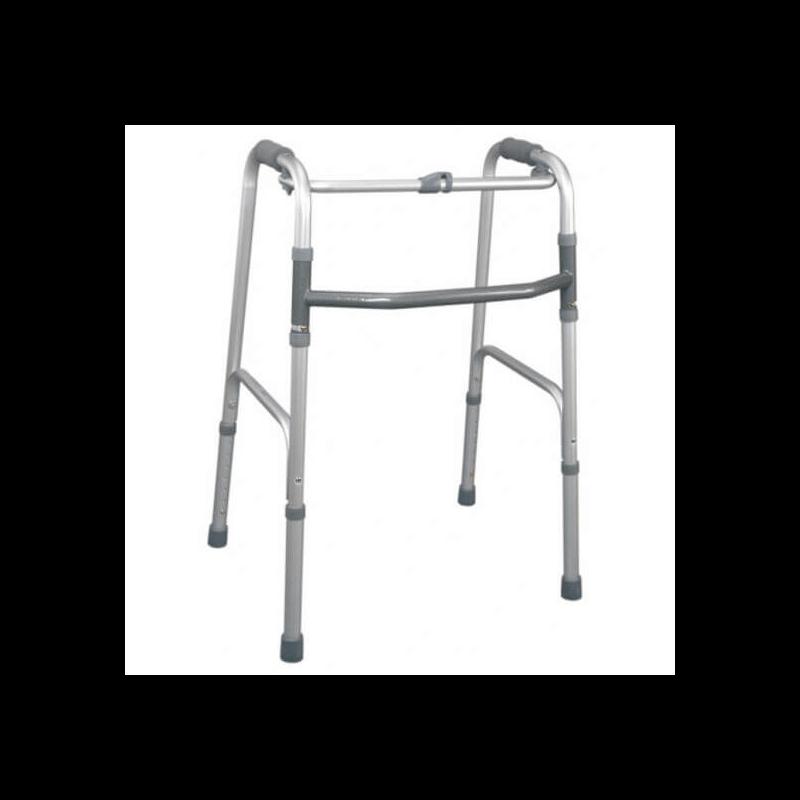 Andador en aluminio anodizado plegable