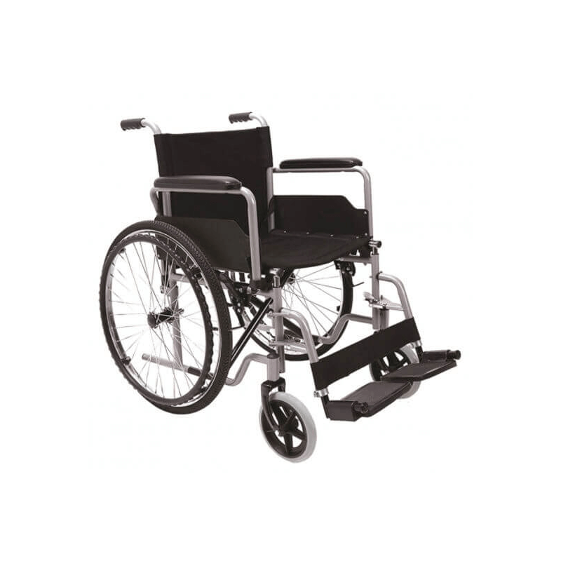 Silla de ruedas plegable de acero