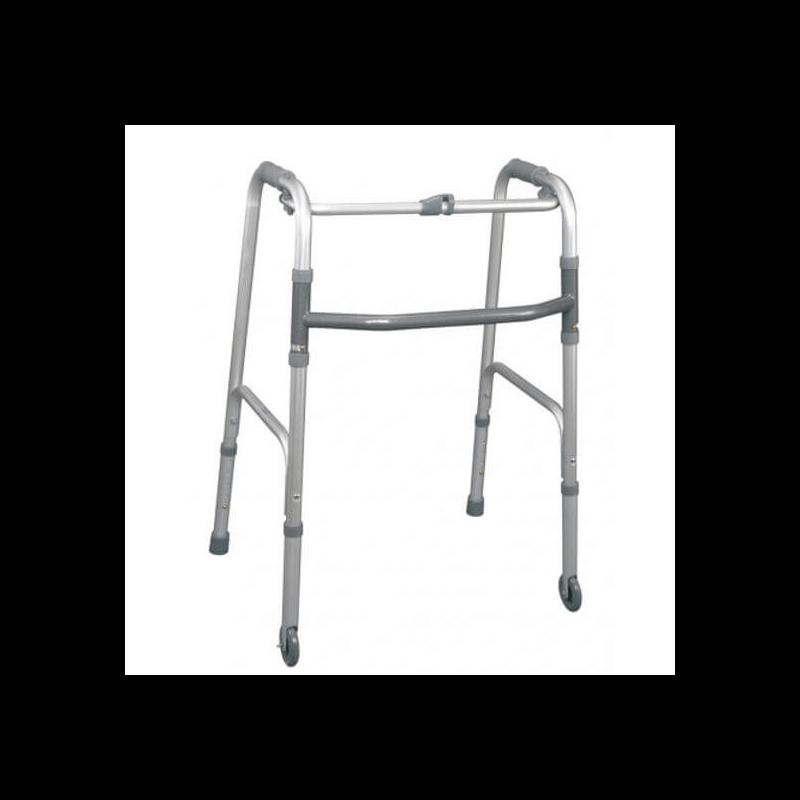 Andador plegable de 2 ruedas