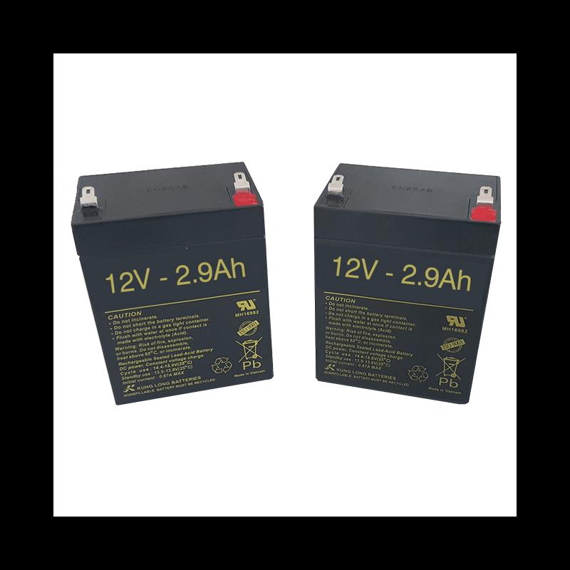 Baterías para Grúa eléctrica Vertic de 2.9Ah - 12V -