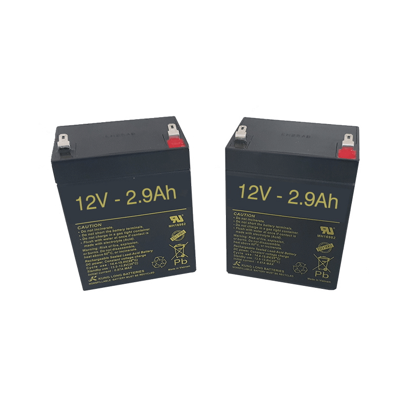 Baterías para Grúa eléctrica SUNLIFT MAJOR de 2.9Ah - 12V